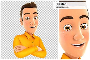 3D Man with Arms Crossed