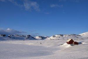Norwegian mountain plateau Hardanger