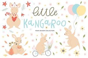 Little kangaroo children collection