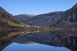 Lake Granvinvatnet in Norway