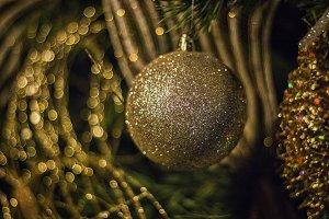 Golden Christmas Sphere