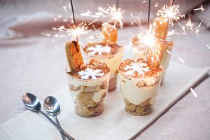 Cupcake dessert cream tiramisu and bengal light