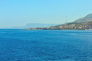 Messina strait from ferry, Sicily