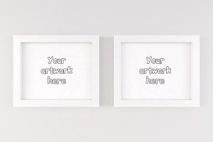 Set of 2 mock frames display artwork
