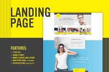 Yellow Me - Landing page (PSD)