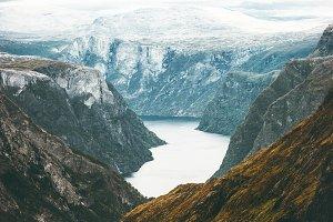 Fjord and Mountains Naeroyfjord