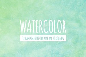 Green & Blue Watercolor Backgrounds
