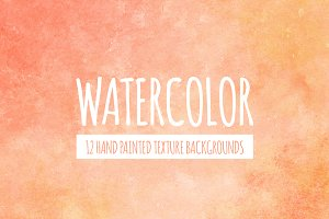 Peach & Orange Watercolor Background