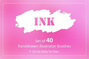 Ink brushes pack for AI.