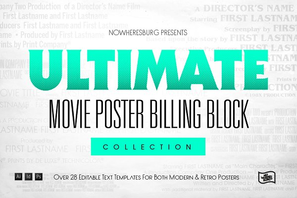 Flyer Templates: Nowheresburg - Ultimate Billing Block Collection
