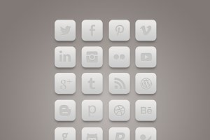 Minimal clean Social icons