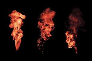 fire smoke blot isolated