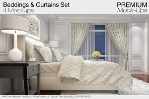 Beddings & Curtains Set