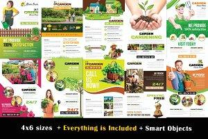 10 Garden Service Flyer Bundle