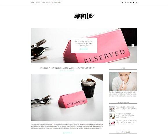 Minimal Blogger Template Annie