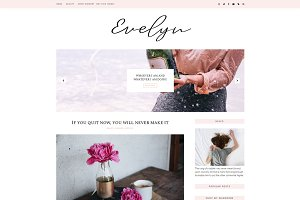 Feminine Blogger Template - Eveline