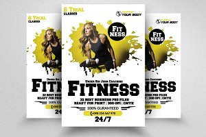 Body Fitness  Flyer Template