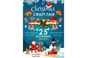 Christmas holiday fair or winter market invitation