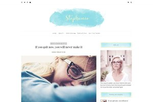 Feminine Blogger Theme - Stephanie