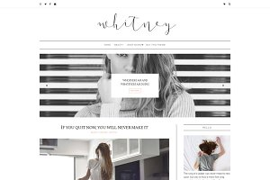 Minimal Blogger Template - Whitney