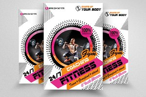 Fitness Coaching Club Flyer Template