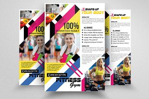 Fitness Gym PSD Flyer Templates