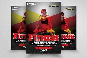 Body Fitness Coaching Flyer Template