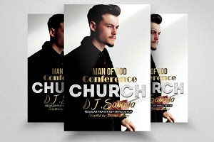 Man Of God Church Flyers