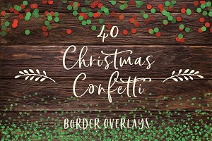 40 Christmas confetti borders