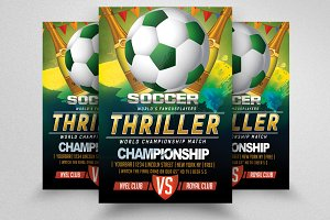 Football Match Flyer Templates