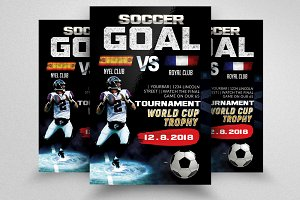 Soccer Goal Flyer Templates