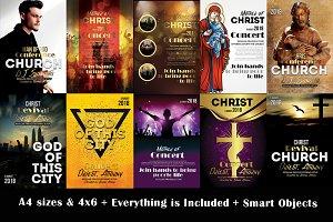 10 Church Flyer Bundle Vol.01