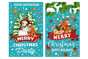 Merry Christmas vector holidays greeting card