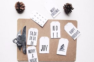 8 Minimalist Christmas Tags