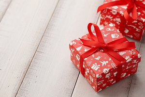 Christmas gifts or present boxes