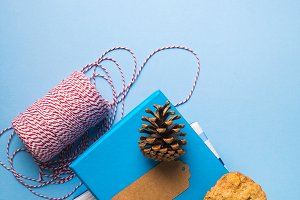 Wrapping christmas gifts concept