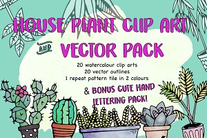 House Plants Clip Art & Print Pack