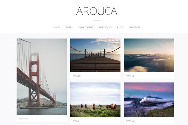 WordPress Photography Themes: uvathemes - Arouca - Photography / Portfolio