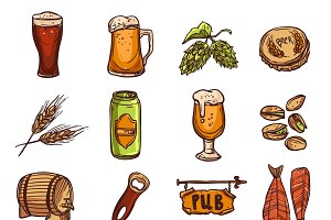 Beer sketch set