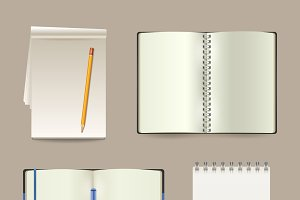 Notebook Realistic Set
