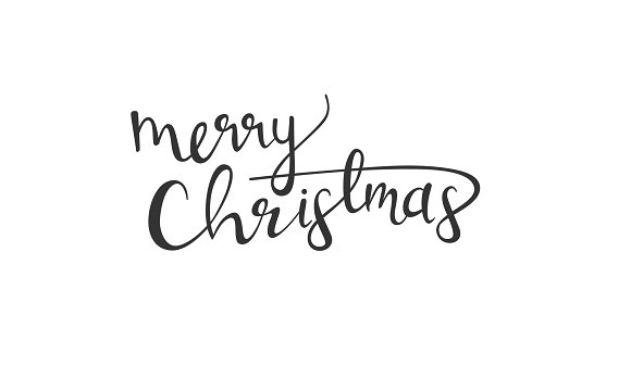 Handwritten Merry Christmas message ~ Illustrations ~ Creative Market