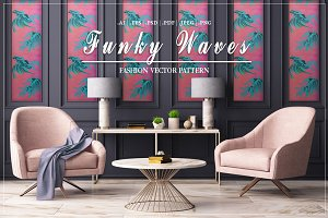 Funky Waves | Vector Pattern