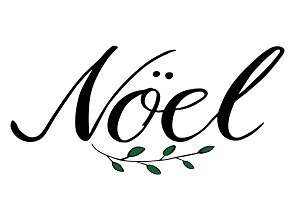 Vector illustration of French Noel