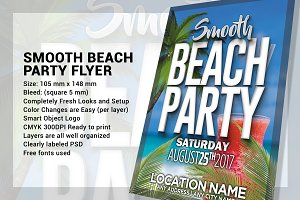 Smooth Beach Party Flyer