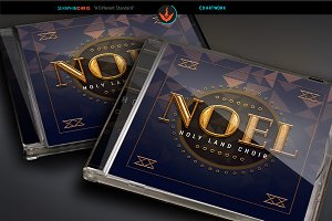 Noel Christmas Art Deco CD Artwork