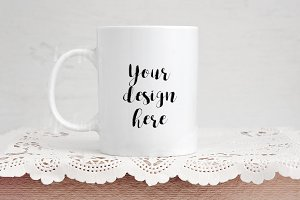 White coffee cup mockup mug template