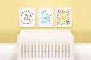 Baby Room frame mockup