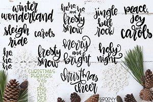 Christmas Phrases - Cut Files