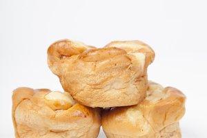 Three pieces of bread