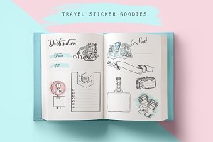 Travel themed illustrations